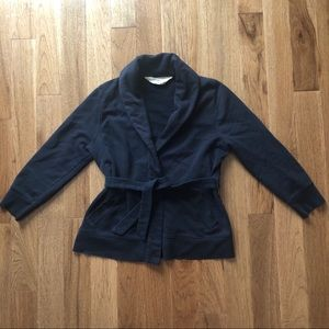 J. Crew Antique Fleece Tie Waist Blazer